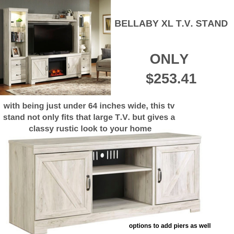Did you get a new TV for Christmas? You need a new TV Stand to go with it!