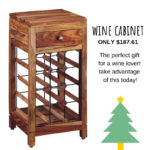 Big wine drinker? Purchase this wine cabinet on sale now for just $187.