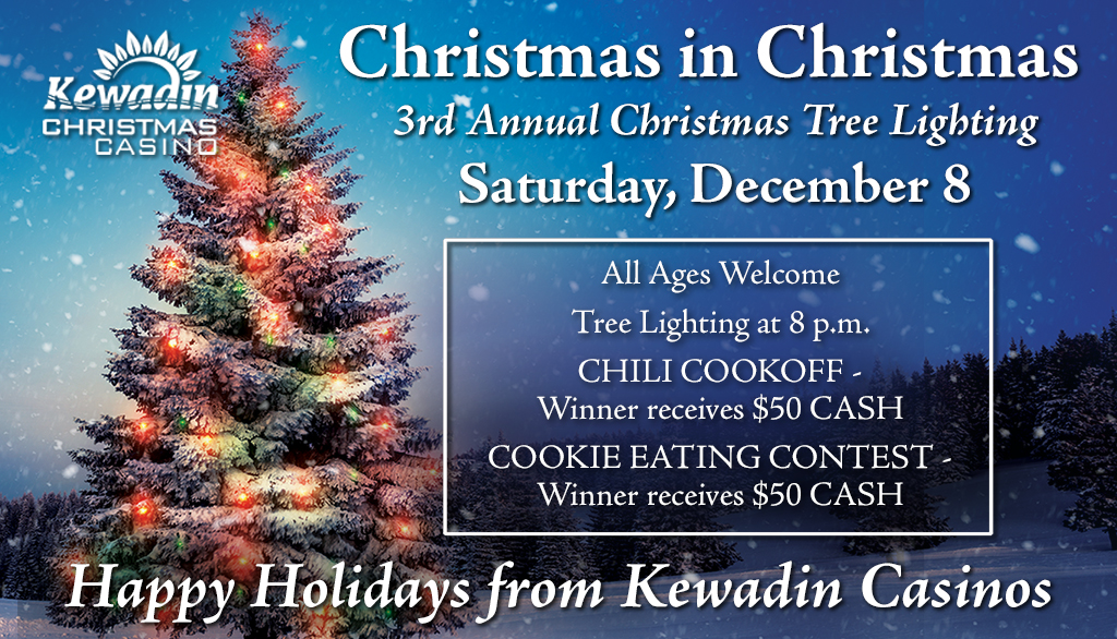 See details on the 3rd Annual Kewadin Christmas Tree Lighting Ceremony.