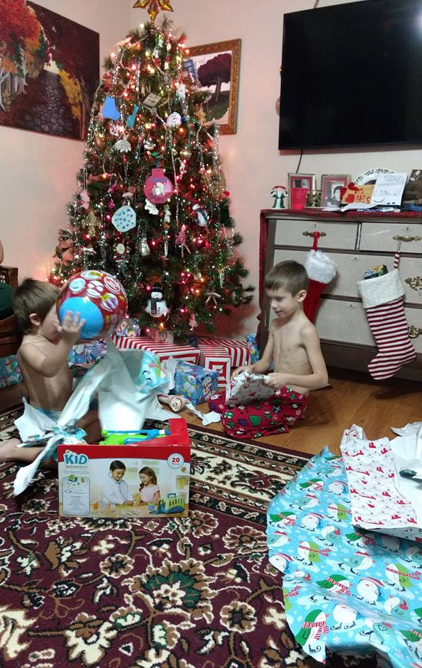 Christmas Morning at the Reyes_Niemisto Household, 2018