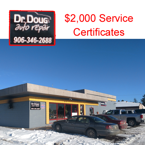 Use this $2,000 certificate at Dr. Doug's Auto Repair.