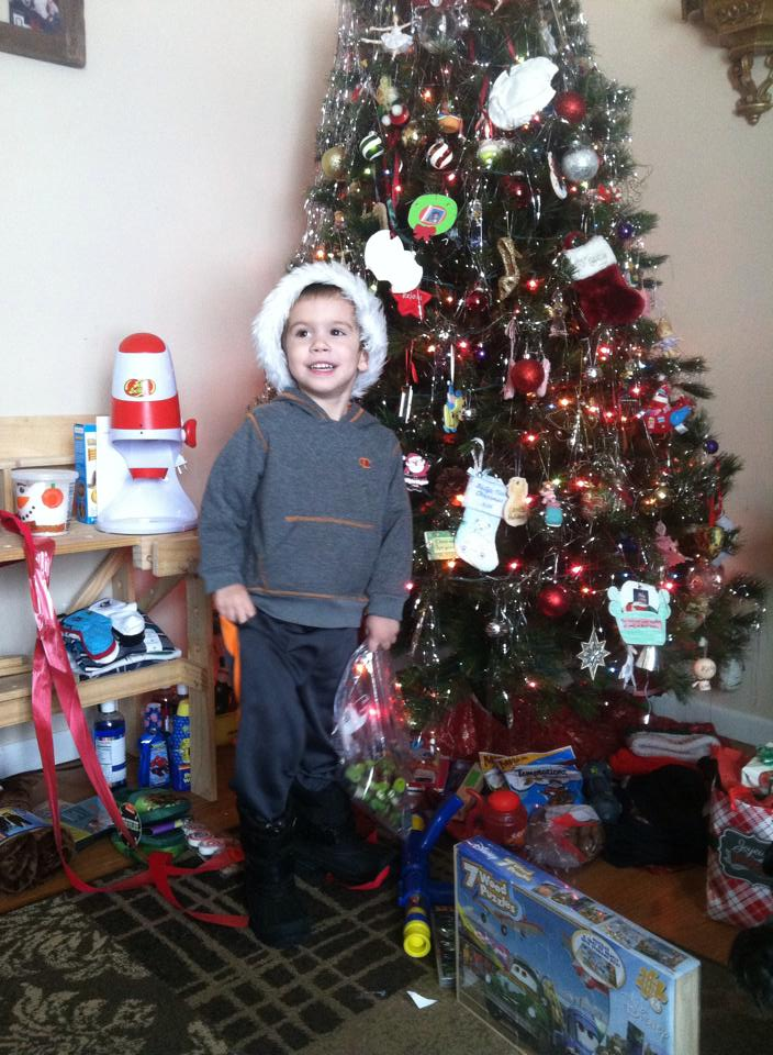 Kelsey's Son, Holden, on Christmas day in 2014