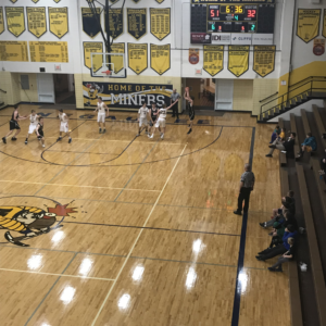The Negaunee Miners hold onto their lead during their game with the Houghton Gremlins on Sunny 101.9FM