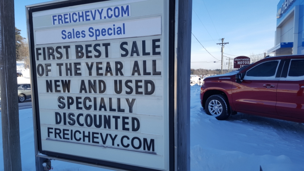 The 'First Best Sale of the Year' continues at Frei Chevrolet.
