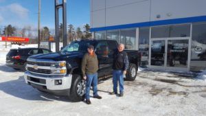 Todd Noordyk and Jim Grundstrom at Frei Chevrolet of US-41 in Marquette.