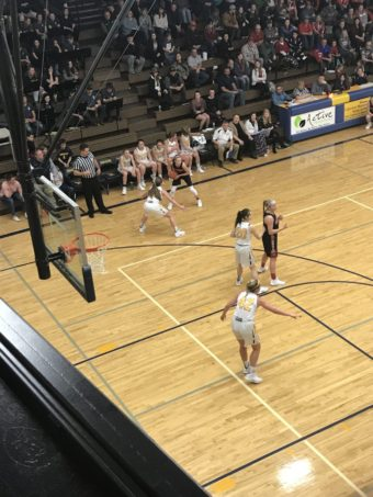 Negaunee plays intense defense in their 46-36 win over the Westwood Patriots on Sunny 101.9FM.