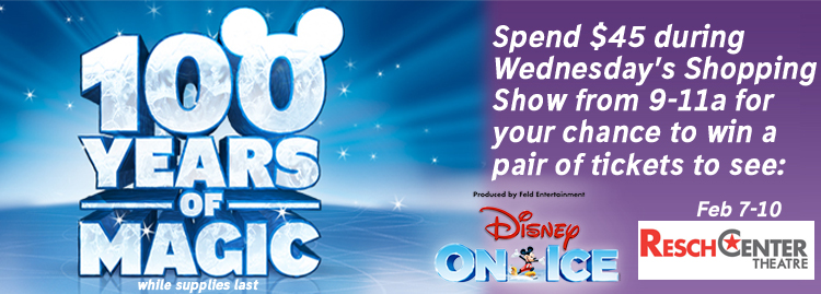 Call in at 227-7777 to place your order and get entered for a chance to win tickets to see Disney on Ice.