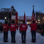 The Marine Corps League Color Guard.