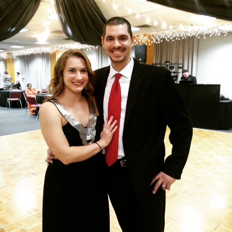 Kelsey and her husband Cody at the Ishpeming Rotary Evening of Elegance Fundraiser on Saturday
