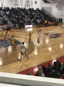 Westwood shoots a three-pointer in their 44-32 loss to the Negaunee Miners on 101.9 SunnyFM.