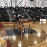 Negaunee battles Westwood in the paint.