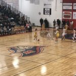 The Miners take it to the hoop.