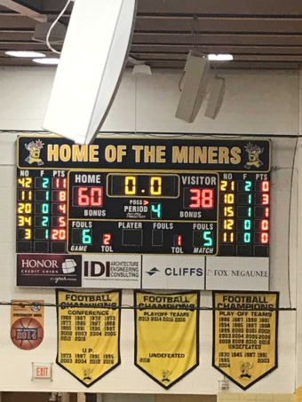 The Negaunee Miners defeated the Gladstone Braves 60-38 on senior night.