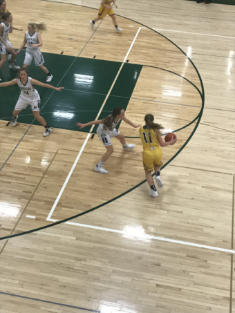 Negaunee looks to score during their 53-21 defeat of Manistique on 101.9 SunnyFM.