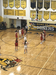 Negaunee shoots a free throw against Marquette, as they fell 51-50 on 101.9 SunnyFM.