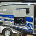 There is a TV in the side of this RV!
