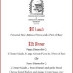 Try a specialty pizza from The Vierling.
