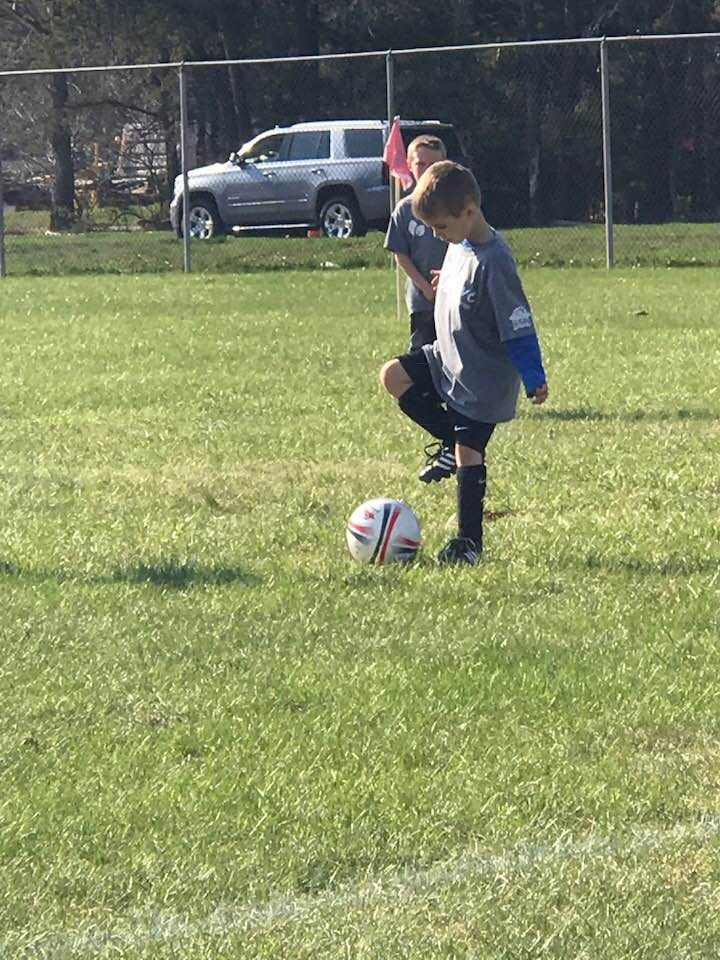 Kelsey's Son, Holden, Playing Soccer Last Spring 2018