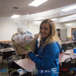 Allison Coss with her basket from Econo Foods.