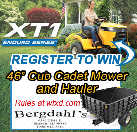 Register to win this Cub Cadet mower and hauler from Bergdahl's!