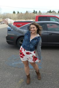 Kelsey Wore Her Sundress as a Show of Support to Mother Nature for Warm Weather!
