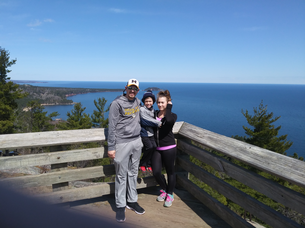 Kelsey and her family at Sugarloaf Mountain on Sunday