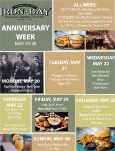 Check out the scheduled events for this year's Anniversary Week.