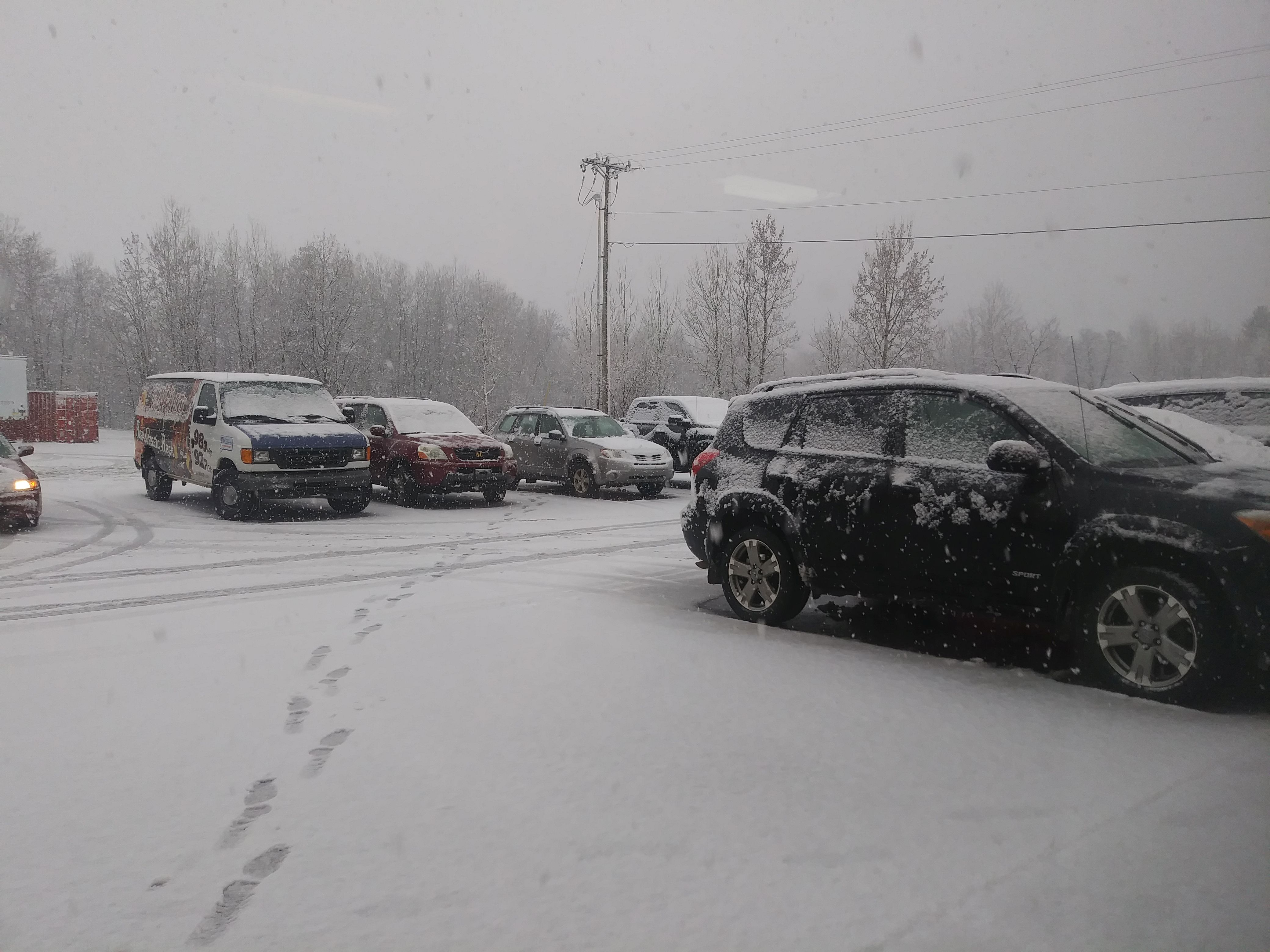 The GLR parking lot on May 1st