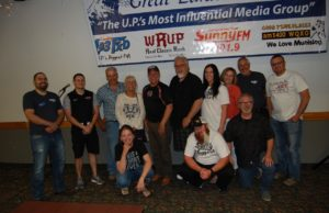 Grand Prize Winner Carolyn Carl and the Great Lakes Radio Crew