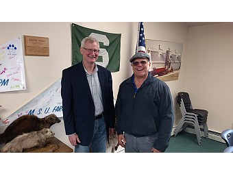 MSU Extension Director Jeff Dwyer Interview - The Value of MSUE for Agriculture and Others in the U.P. (Dwyer, left and Todd Noordyk, Right)