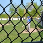 A Calumet batter waits for his turn.