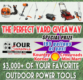 Register for a chance to win $3,000 in hand held power equipment!