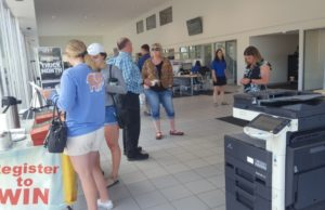 The Frei Chevy showroom was busy throughout the afternoon