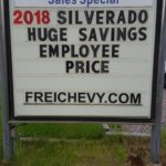 Get employee pricing on 2018 Silverados at Frei Chevrolet