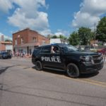 The Negaunee Police Lead the Parade.