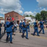 The Negaunee City Band was right at the front to lead the way with some lively music.