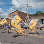 The Negaunee High School color guard did a great job this afternoon and the band sounded great.