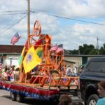 Lions International parade float for Pioneer Days