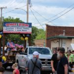 Switzer Construction float in Pioneer Days Festival