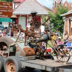 Skeleton float during the Pioneer Days Festival parade