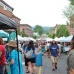 Crowd down Front Street during this year's Blueberry Festival