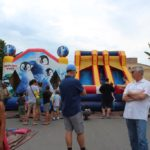 Kids inflatables at the 2019 Blueberry Fest!
