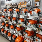 Brand new Sthil saws on display