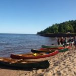 Judy Kitchen Interview Wooden Canoe Assembly in Marquette Tourist Park August 17th 10a-8p