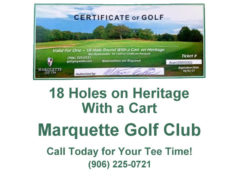 Marquette Golf Course 18 Holes on Heritage with a cart