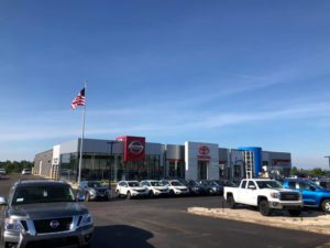 The brand new Riverside Auto Mall in Marquette is located across from Walmart.