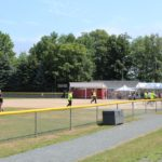 Shot of the field during the Community Days softball tournament.