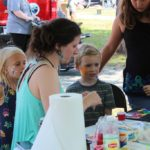 Face painting fun at Community Days