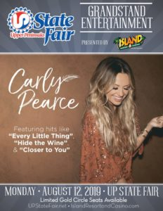 See Carly Pearce at the UP State Fair on us!