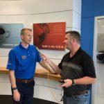 Tim Dawson, the GM of Riverside Auto Mall, talks with Mark